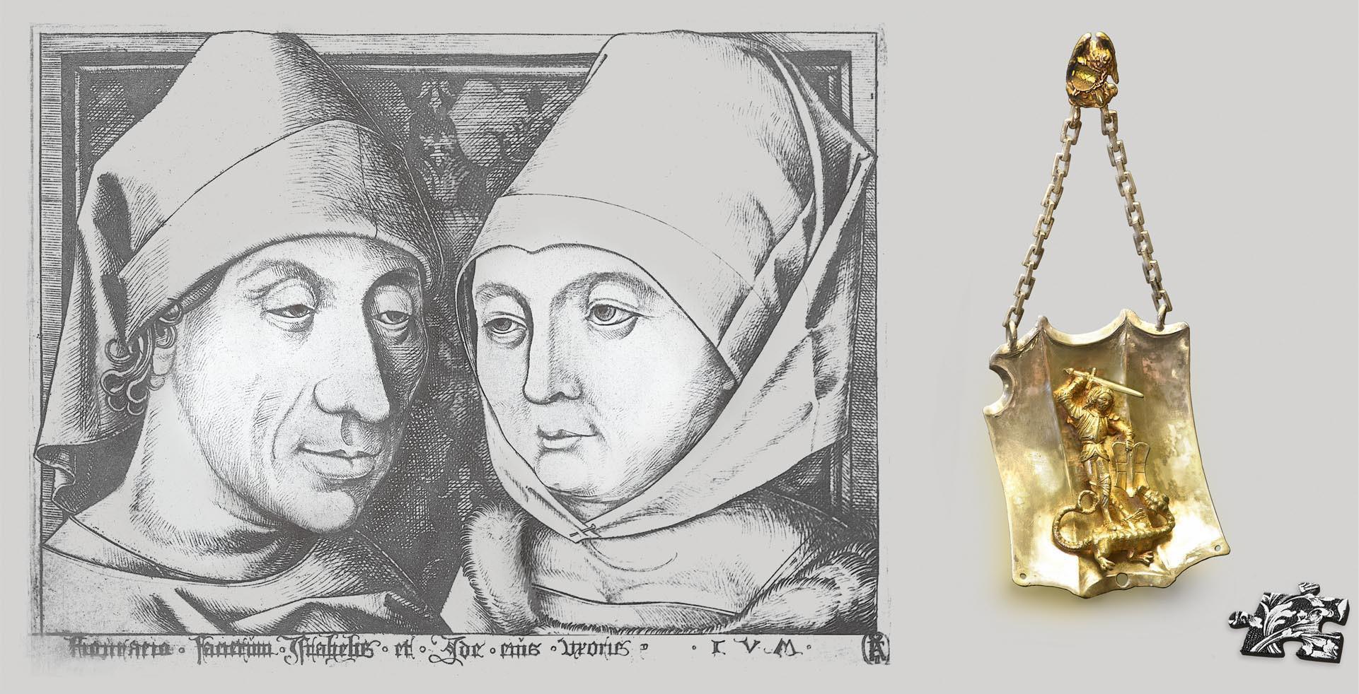 Israhel van Meckenem mit Frau